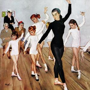 """""""Ballet Class"""", November 3, 1956 by George Hughes"""