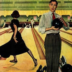 """Bowling Strike"", January 28, 1950 by George Hughes"