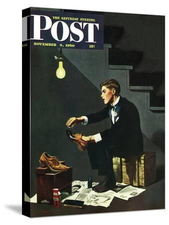 """Brown Shoes to Black"" Saturday Evening Post Cover, November 4, 1950"