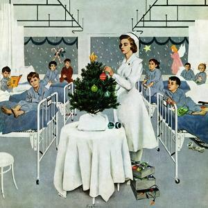 """Children's Ward at Christmas"", December 25, 1954 by George Hughes"