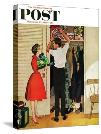 """""""Christmas in Hiding,"""" Saturday Evening Post Cover, December 10, 1960"""