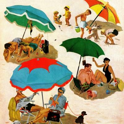 """Couples at the beach"", August 2, 1952"
