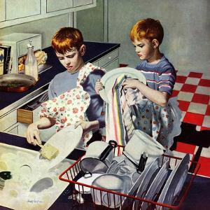 """""""Dinner Dishes"""", September 26, 1953 by George Hughes"""