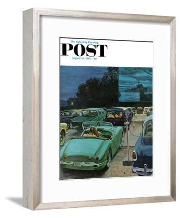"""Drive-In Movies,"" Saturday Evening Post Cover, August 19, 1961"