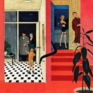 """""""Early Guests"""", November 23, 1957 by George Hughes"""