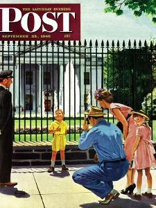 """Future President,"" Saturday Evening Post Cover, September 25, 1948 by George Hughes"