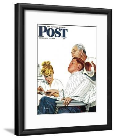 """""""Haircut and Manicure,"""" Saturday Evening Post Cover, December 11, 1948"""