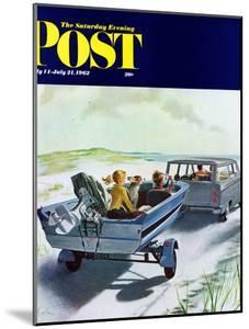 """""""Highway Boatride,"""" Saturday Evening Post Cover, July 14, 1962 by George Hughes"""