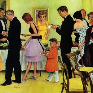 """""""Hitting the Buffet,"""" November 11, 1961 by George Hughes"""
