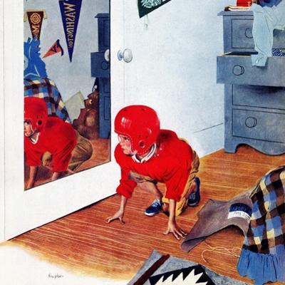 """Home Football"", November 17, 1951 by George Hughes"