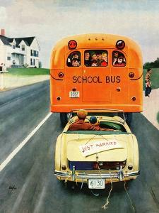 """""""Just Married"""", September 10, 1955 by George Hughes"""