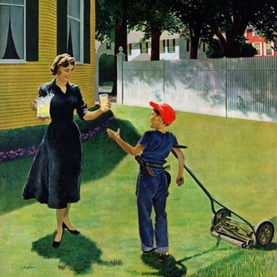 """Lemonade for the Lawnboy"", May 14, 1955 by George Hughes"
