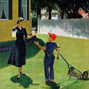 """""""Lemonade for the Lawnboy"""", May 14, 1955 by George Hughes"""