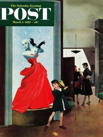 """""""Mannequin"""" Saturday Evening Post Cover, March 1, 1952"""