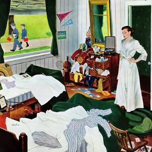 """Messy Room, Neat Boys"", October 22, 1955 by George Hughes"