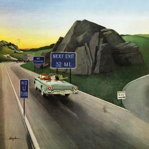 """""""Missed Exit"""", June 15, 1957 by George Hughes"""