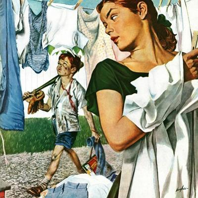 """More Clothes to Clean,"" April 17, 1948 by George Hughes"