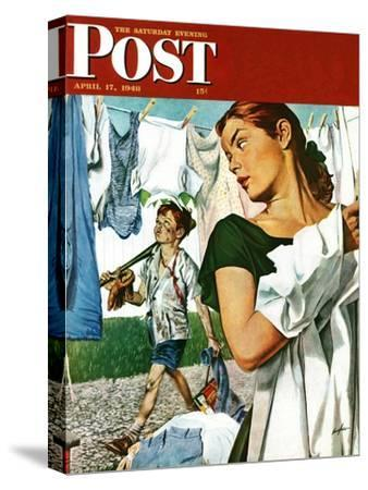 """More Clothes to Clean,"" Saturday Evening Post Cover, April 17, 1948"