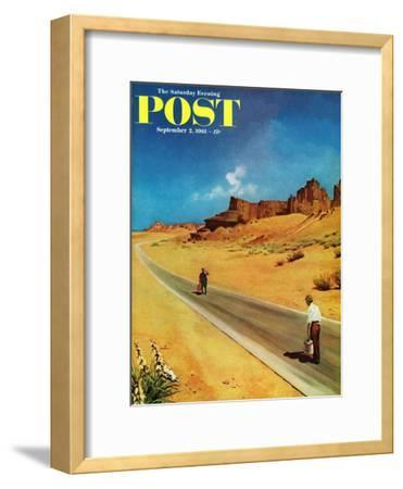 """""""Out of Gas,"""" Saturday Evening Post Cover, September 2, 1961"""