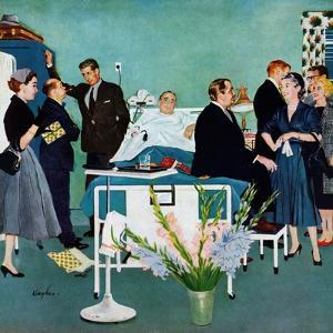 """""""Patient Visitors?"""", February 18, 1956 by George Hughes"""