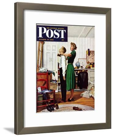 """""""Readying for First Date,"""" Saturday Evening Post Cover, October 16, 1948"""