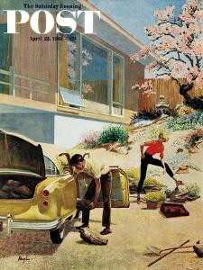 """""""Rock Garden,"""" Saturday Evening Post Cover, April 22, 1961 by George Hughes"""