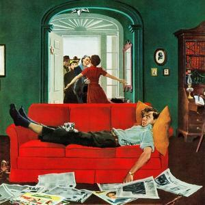 """""""Sunday Visitors"""", February 6, 1954 by George Hughes"""
