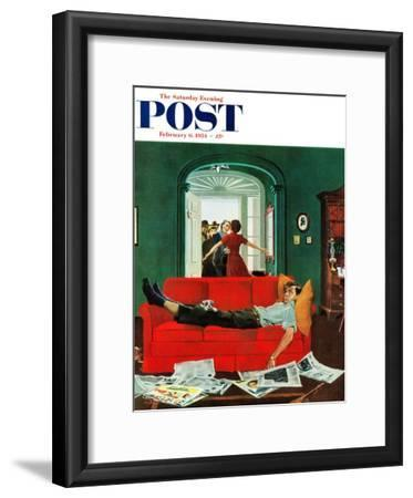 """Sunday Visitors"" Saturday Evening Post Cover, February 6, 1954"
