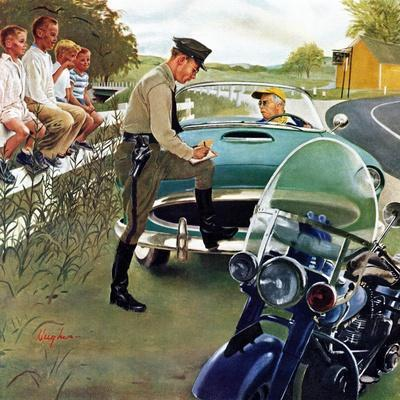 """Ticket for Roadster"", April 27, 1957"