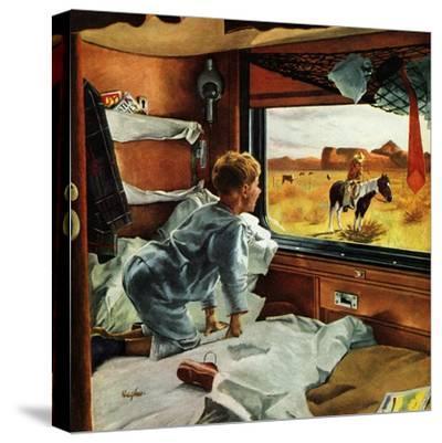 """""""Train Window on the West"""", July 24, 1954"""
