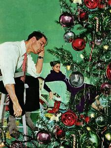 """""""Trimming the Tree,"""" December 24, 1949 by George Hughes"""
