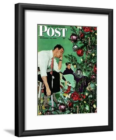"""Trimming the Tree,"" Saturday Evening Post Cover, December 24, 1949"