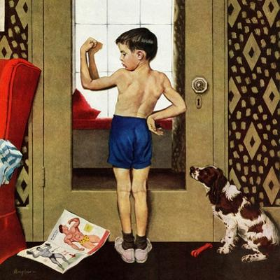"""Young Charles Atlas"", November 29, 1952 by George Hughes"
