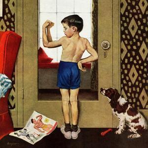"""""""Young Charles Atlas"""", November 29, 1952 by George Hughes"""