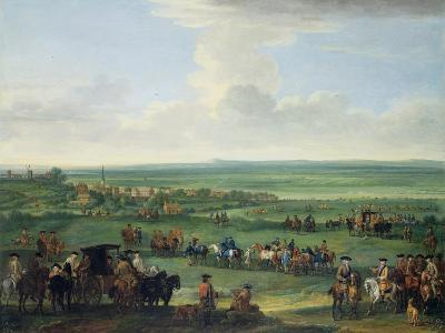 George I (1660-1727) at Newmarket, 4th or 5th October 1717, c.1717-John Wootton-Giclee Print
