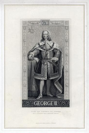 George II of Great Britain-T Brown-Giclee Print