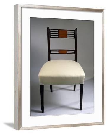 George III Style Mahogany and Satinwood Chair, 1795, United Kingdom--Framed Giclee Print