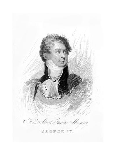 George IV, King of the United Kingdom and Hanover, 19th Century--Giclee Print