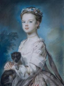 Portrait of Lady Charlotte Boyle by George Knapton