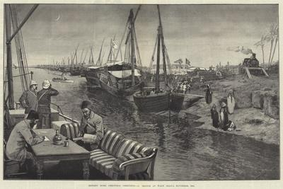 Sending Home Christmas Greetings, a Sketch at Wady Halfa, November 1884