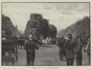 The London Season, in Hyde Park, Waiting for the Shahzada by George L. Seymour