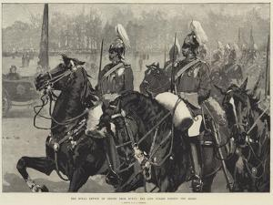 The Royal Review of Troops from Egypt, the Life Guards Passing the Queen by George L. Seymour