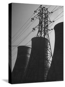 Mammoth Water Condensers at a Power Plant by George Lacks