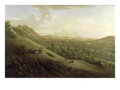 A View of Boxhill, Surrey, with Dorking in the Distance, 1733