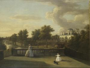 View of Chiswick Villa from a Balcony Above the Cascade with the Lake, 1742 by George Lambert