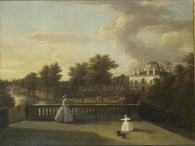 View of Chiswick Villa from a Balcony Above the Cascade with the Lake, 1742