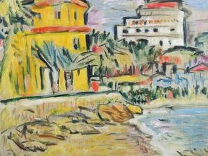 Mediterranean Town by George Leslie Hunter