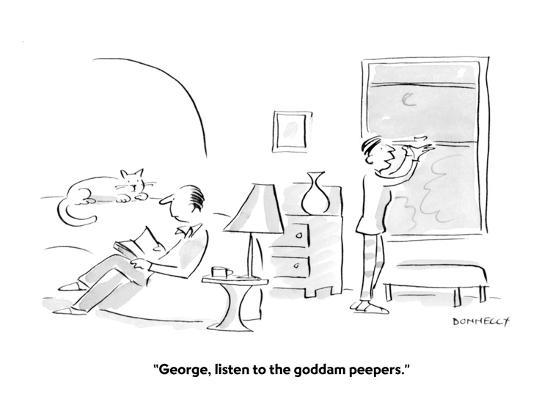 """""""George, listen to the goddam peepers."""" - Cartoon-Liza Donnelly-Premium Giclee Print"""