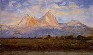 View of the Mythens Near Schwyz by George Loring Brown