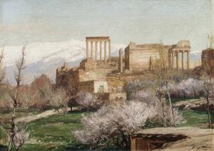 View of Baalbek, Lebanon by George Macco